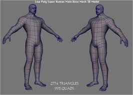 Human Male Anatomy Low Poly Super Human Male Base Mesh 3d Model By Bhuship 3docean