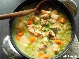 cuisiner le celeri recette bio blanquette légère de saumon bio au céleri branche
