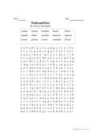word search nationalities printable nationalities worksheet free esl printable worksheets made by teachers