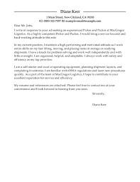 Email Resume Cover Letter Sample by Best Picker And Packer Cover Letter Examples Livecareer