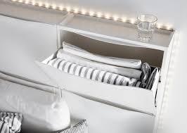 Used Ikea Cabinets Six White Ikea Trones Shoe Cabinets Are Used To Create A Headboard