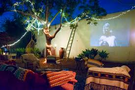 Backyard Outdoor Theater by Make Backyard Theater Diy