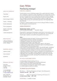 Sample Resume For Purchasing Agent Impressive Ideas Purchasing Manager Resume 6 Purchasing Cv Sample