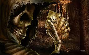 grim reaper horror skeletons skull creepy cards