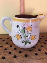 stangl pottery terra vintage stangl terra garden flower pottery pitcher picclick