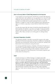 import export guide letter of credit