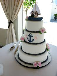 nautical themed wedding cakes nautical wedding cake rope fondant navy ribbon wooden dock for