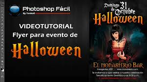 flyer para evento de halloween photoshop yanko0 youtube