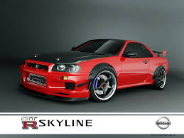 nissan skyline modified nissan skyline gtr r34 red 1 by 3dmanipulasi on deviantart