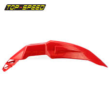 red supermoto universal fit front fender for suzuki honda crf150