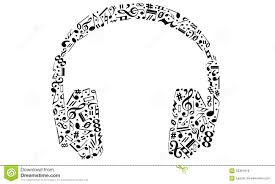 headphones with music clipart clipartxtras