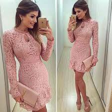 new arrive vestidos women fashion casual lace dress 2017 o neck