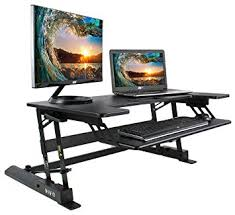 amazon com vivo height adjustable standing desk sit to stand gas