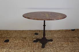 Cast Iron Bistro Table Antique Marble And Cast Iron Bistro Table For Sale At Pamono