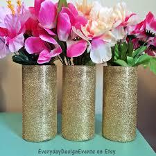 Bulk Bud Vases 3 Fine Gold Vases Glass Vases Bud Vase Flower Vase Wedding