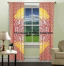 mandala hippie tapestry curtains u0026 window door drapes valances 3