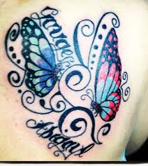 names with best butterfly model tattoos design idea