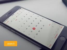 ios calendar ui design sketch http freebiesjedi com 2016 01