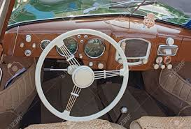 old porsche classic car interior dashboard of an old porsche 356 a 1952