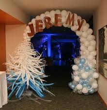 cool theme ideas for a winter ski or snowboard bar bat mitzvah or