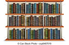 Bookcase With Books Eps Vectors Of Shelf With Books And Frame Wooden Bookshelf With