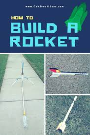 how to make air rockets cub scout ideas