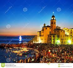 traditional celebration festival stella maris in camogli editorial