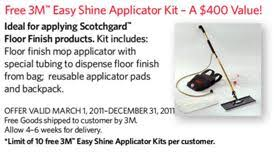 3m promo gets you a free easy shine applicator kit products