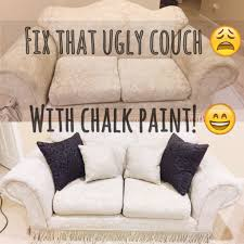 Simply Spray Upholstery Paint Walmart Painted A 20 Year Old Couch Using Chalk Paint Youtube