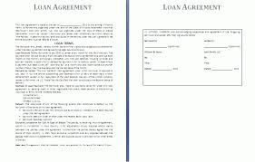 loan agreement template free business templates
