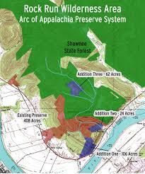 Shawnee Map Rock Run Arc Of Appalachia