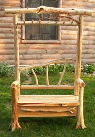 Rustic Log Benches - log bench ideas ideas for the home pinterest logs