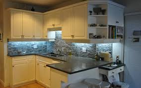 Tile Under Kitchen Cabinets Bathroom Brown Wood Countertops Lowes With Under Cabinet Lighting