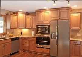 Kitchen Rail Lighting Simple Country Kitchen Design With Natural Pine Wood Cabinets