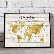 wedding gift map somegoodwords wedding guest book alternative world map rustic