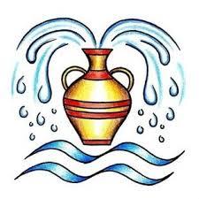 water jug and aquarius symbol tattoo design tattoowoo com