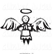 illustration vector of an black and white carved praying with