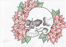ing how to draw skulls with roses by ings images cool skull