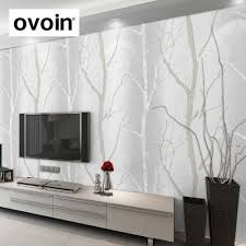 tapisserie moderne pour chambre noir blanc bouleau arbre papier peint pour chambre design moderne