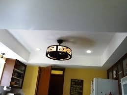 Cover Fluorescent Ceiling Lights How To Install Recessed Kitchen Ceiling Light Fixtures Home