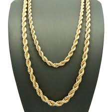 rope gold necklace images English rope chain necklace in 14k gold plating yugster jpg