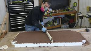 How To Build A Concrete Bar Top Diy Polished Concrete Coffee Table With Crushed Glass Diy