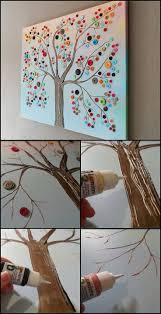 best 25 tree wall art ideas on pinterest nursery tree mural got a collection of buttons waiting for a project how about this adorable wall art