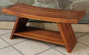 teakwood shower bench treenovation