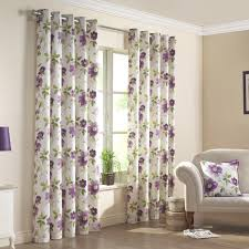 Floral Lined Curtains Curtain Green Floral Lined Curtains Notable Renoir Purple Printed