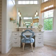 Bath Vanity With Makeup Table by Los Angeles Contemporary Makeup Vanity Bathroom Traditional With