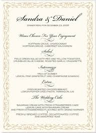 personalized wedding menu cards search menu cards for