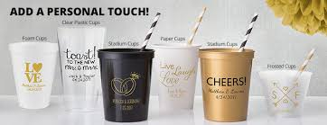 clear plastic cups for wedding personalized wedding cups personalized wedding products