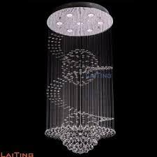 Modern Large Chandelier Laiting Modern Large Spiral Drop K9 Chandelier For
