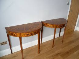 Half Moon Table Pair Of Half Moon Tables Antiques Atlas